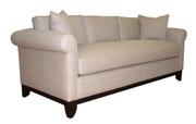 Round Arm Tuxedo Sofa