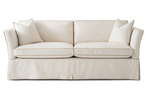 High Back Sandy Sofa Slipcover Carlyle