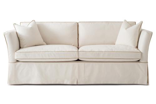 Charmant ... High Back Sandy Sofa   Slipcover. Image 1