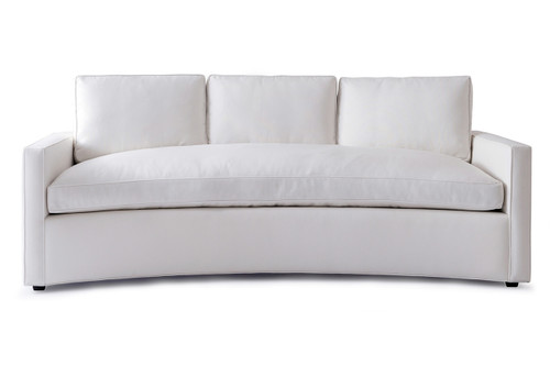 White Curved Sofa Mid Century Modern Curved Sofa In White