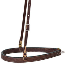 Western Brown Hand Tolled Noseband By Aledo Saddlery