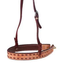 Western Natural Leather Brown BuckstitchedvNoseband By Aledo Saddlery