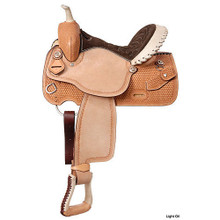 Western Natural Leather Barrel Racer Saddle By Aledo Saddlery