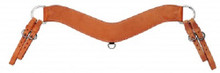 "Western Natural Leather Shaped 3.5"" Wide Steering Breast Collar By Aledo Saddlery"