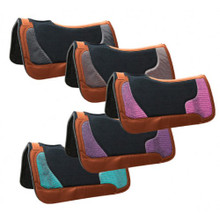 Western Black 20mm Saddle Felt Pad with Animal Croco Print By Aledo Saddlery