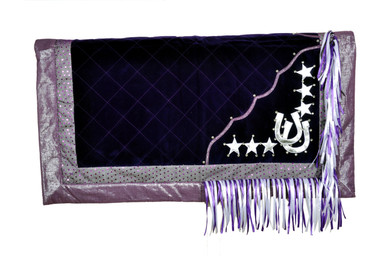 western show purple/white barrel rodeo saddle pad
