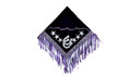 western purple/white barrel rodeo saddle pad