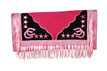 pink/white show barrel rodeo saddle pad