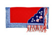 American flag painted show barrel rodeo saddle pad