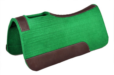 western hunter green wool felt saddle pad