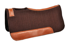 western brown wool felt saddle pad