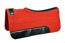 western 20MM red & black wool felt saddle pad