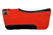 western red & black wool felt saddle pad