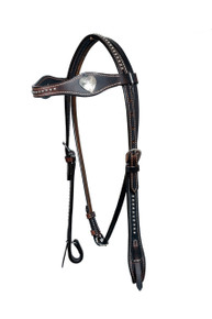 leather silver spot studded headstall