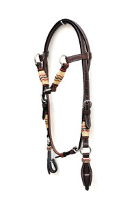 western dark oil rawhide braided headstall