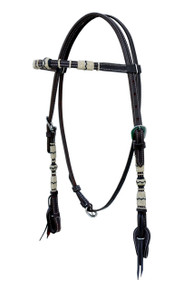 leather browband rawhide braided headstall