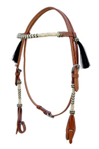leather browband style headstall