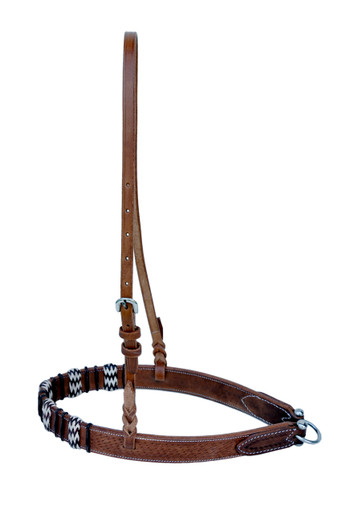 western natural leather rawhide braided noseband