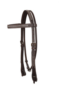 western browband silver spot studded headstall
