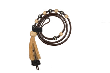 western dark oil leather rawhide braided over under whip