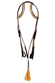 western leather two ear style headstall