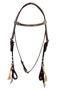leather rawhide braided headstall