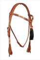 western natural futurity style leather headstall