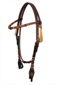 western browband leather headstall