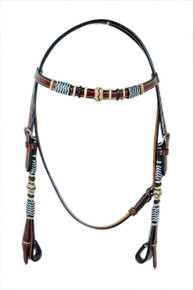 brown headstall/breast collar & leather reins set