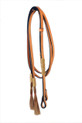 western london tan leather rawhide braided split reins