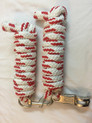 nylon white/red roping reins