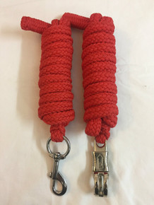 western red braided and knotted roping reins