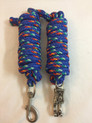 nylon royal blue roping reins