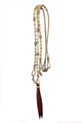 western natural/black/red rawhide braided in romel reins