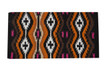 western multi color wool horse saddle pad
