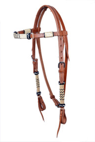 western medium oil browband rawhide braided headstal