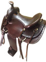 roper ranch hand tooled brown saddle