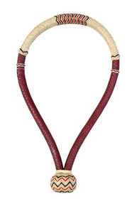 "western natural & tan rawhide weaved 5/8"" bosal"