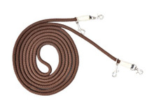 western nylon brown roping romel reins