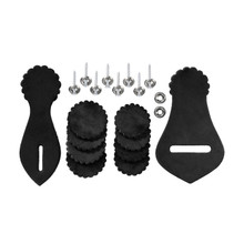 Western Black Leather Saddle Repair Kit with Harware By Aledo Saddlery