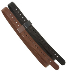 "Western Brown Or Black Nylon 2.0"" Wide Reinforced Nylon Stirrups Leather By Aledo Saddlery"