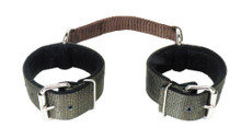 Western Black Nylon Shaped Hobble Strap By Aledo Saddlery