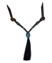 Western Dark Oil Set of Rawhide Braided with Horse Hair Tassel  By Aledo Saddlery 006