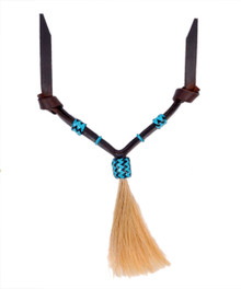 Western Dark Oil Set of Rawhide Braided with Horse Hair Tassel  By Aledo Saddlery 007