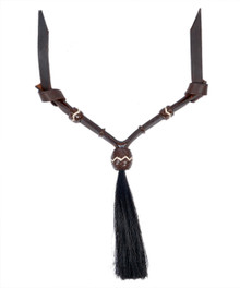 Western Dark Oil Set of Rawhide Braided with Horse Hair Tassel  By Aledo Saddlery 009