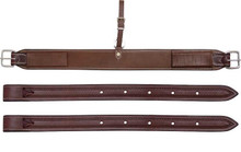 "Western Light Brown Leather 36"" x 3"" Wide Cinch with Off Billets By Aledo Saddlery"