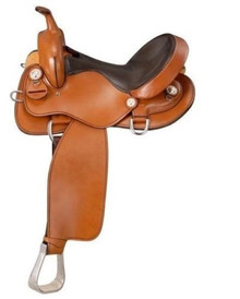 Western London Tan Leather Arabian Barrel Racer By Aledo Saddlery