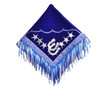 western  show barrel rodeo blue/silver saddle pad