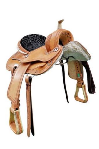 western riders natural barrel racer hand carved saddle