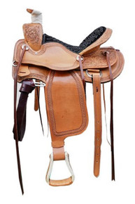 wade cowboy roper ranch hand carved saddle